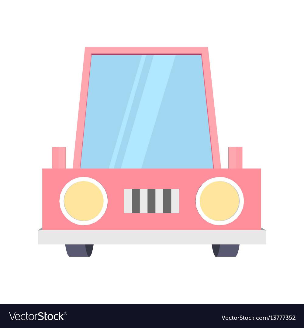 Abstract creative funny cartoon car set isolated