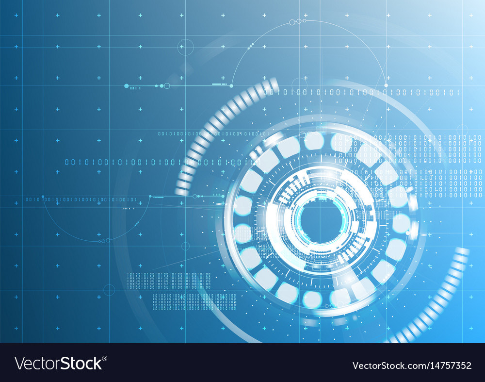 Abstract technological future interface digital