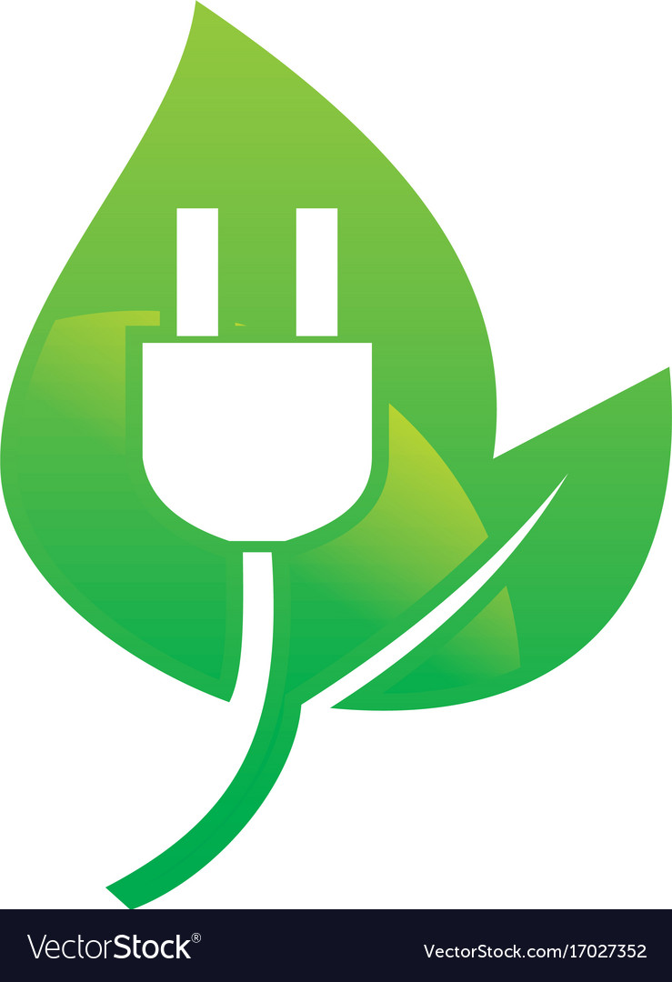 Bio electric nature energy logo