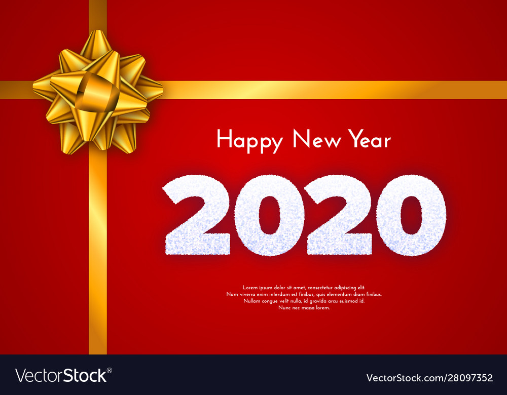Holiday Gift Card Happy New Year 2020 Snow