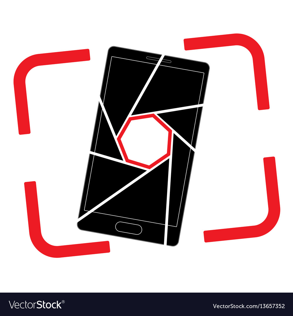 Icon or logo with a picture of a smartphone