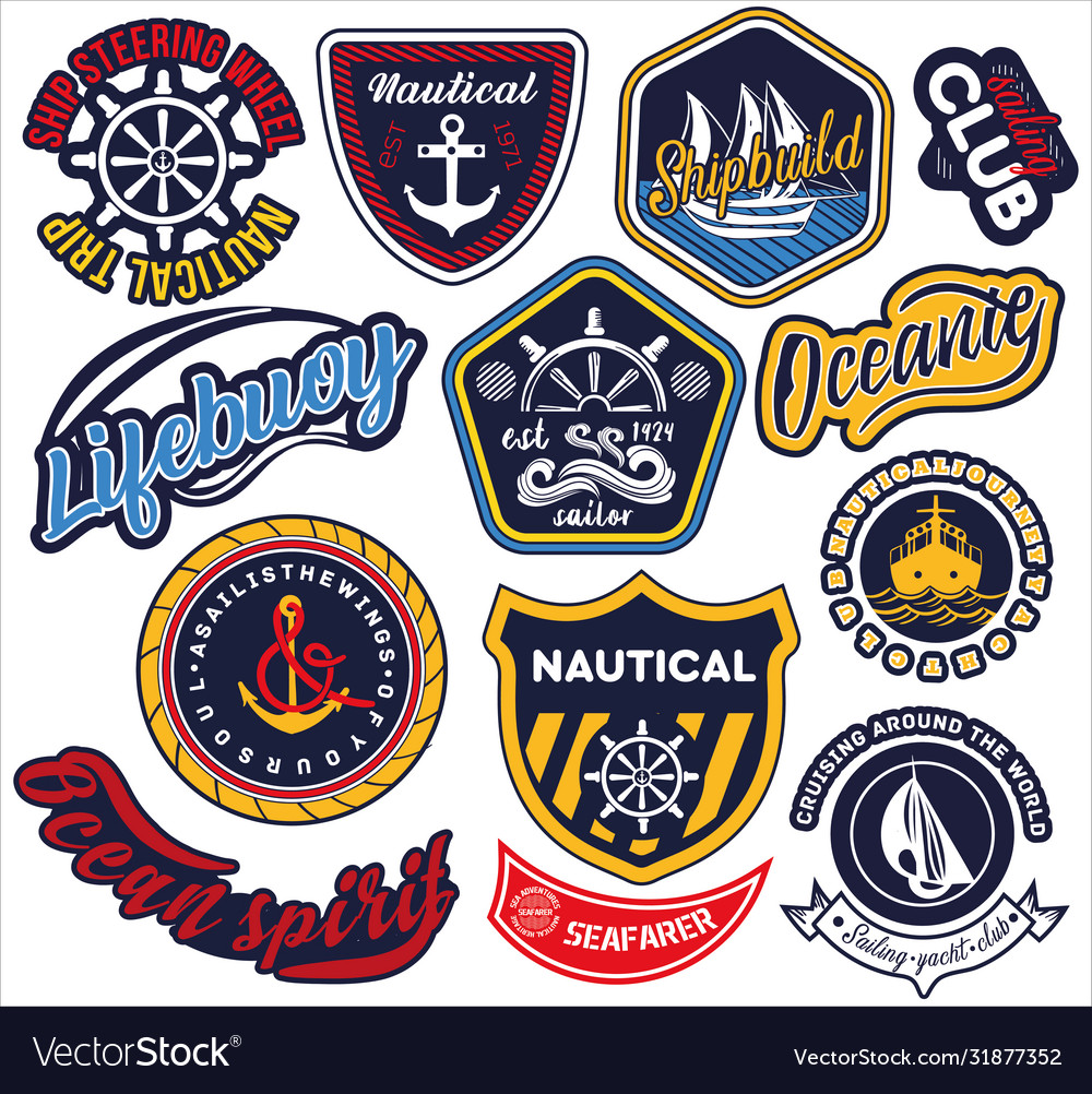 Large selection nautical and maritime labels