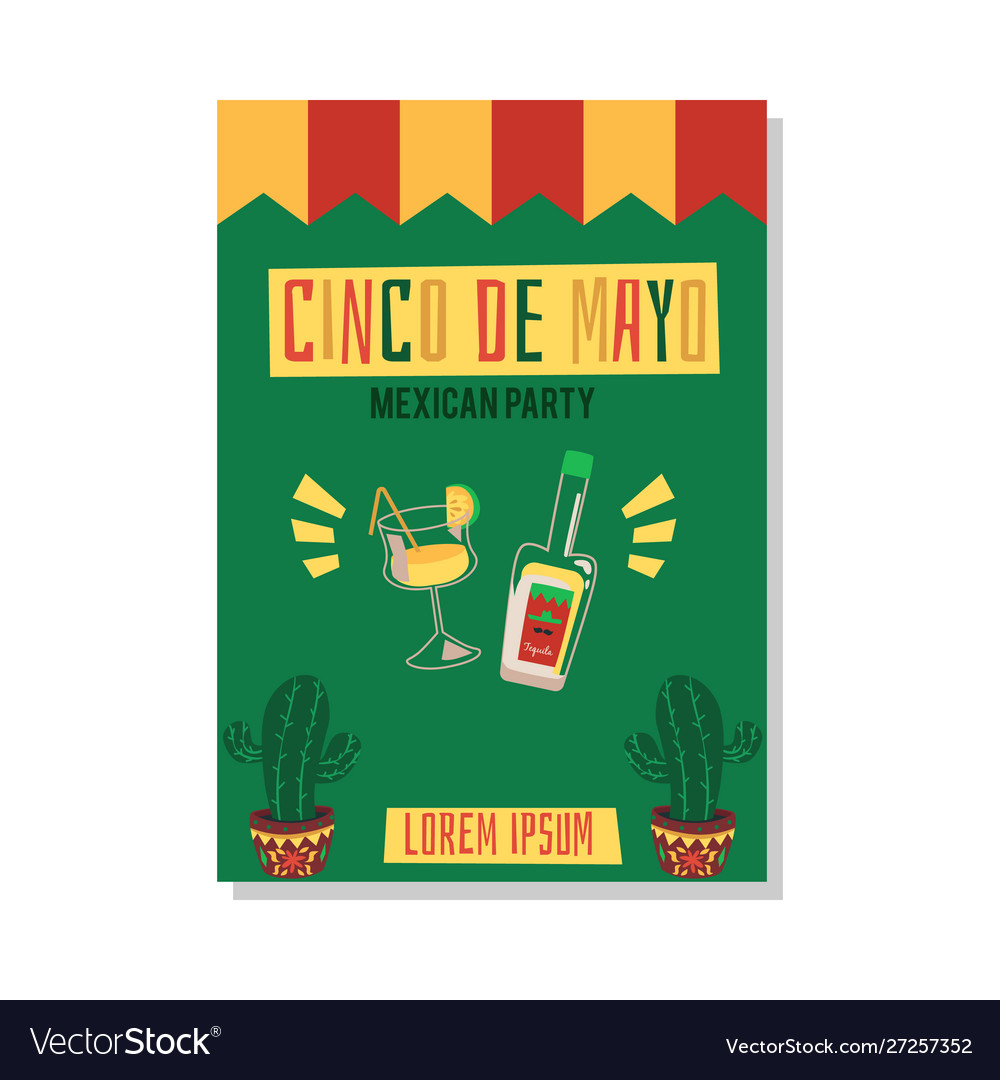 Party cinco de mayo with tequila and alcohol
