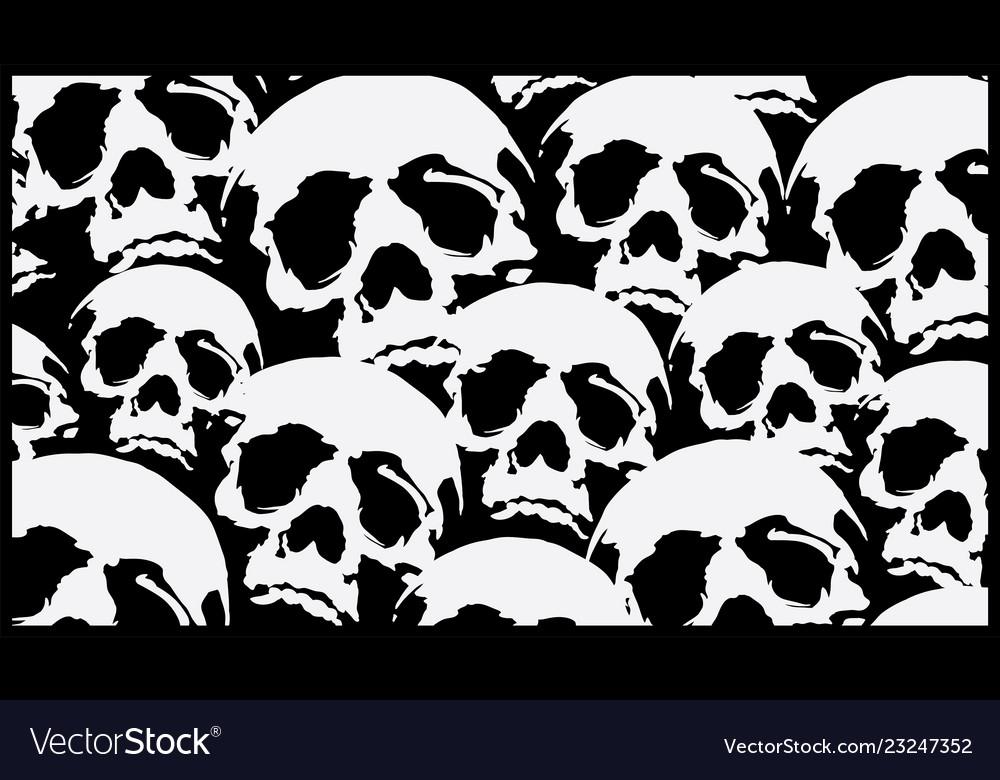 Pattern skull destroyed cloth