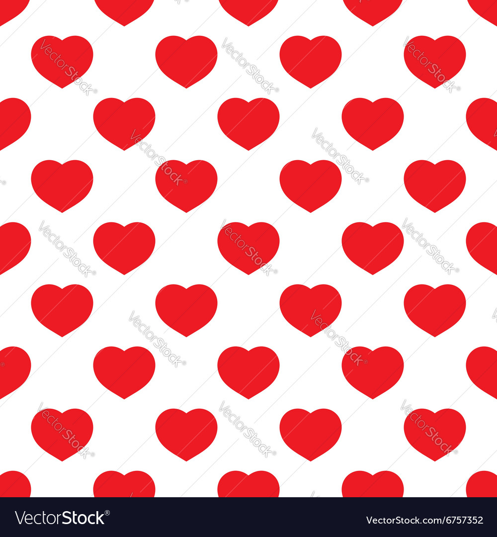 Seamless heart red vector image