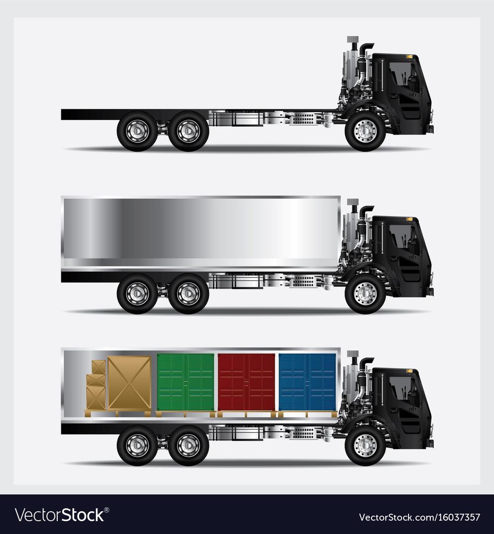 Cargo trucks transportation isolated