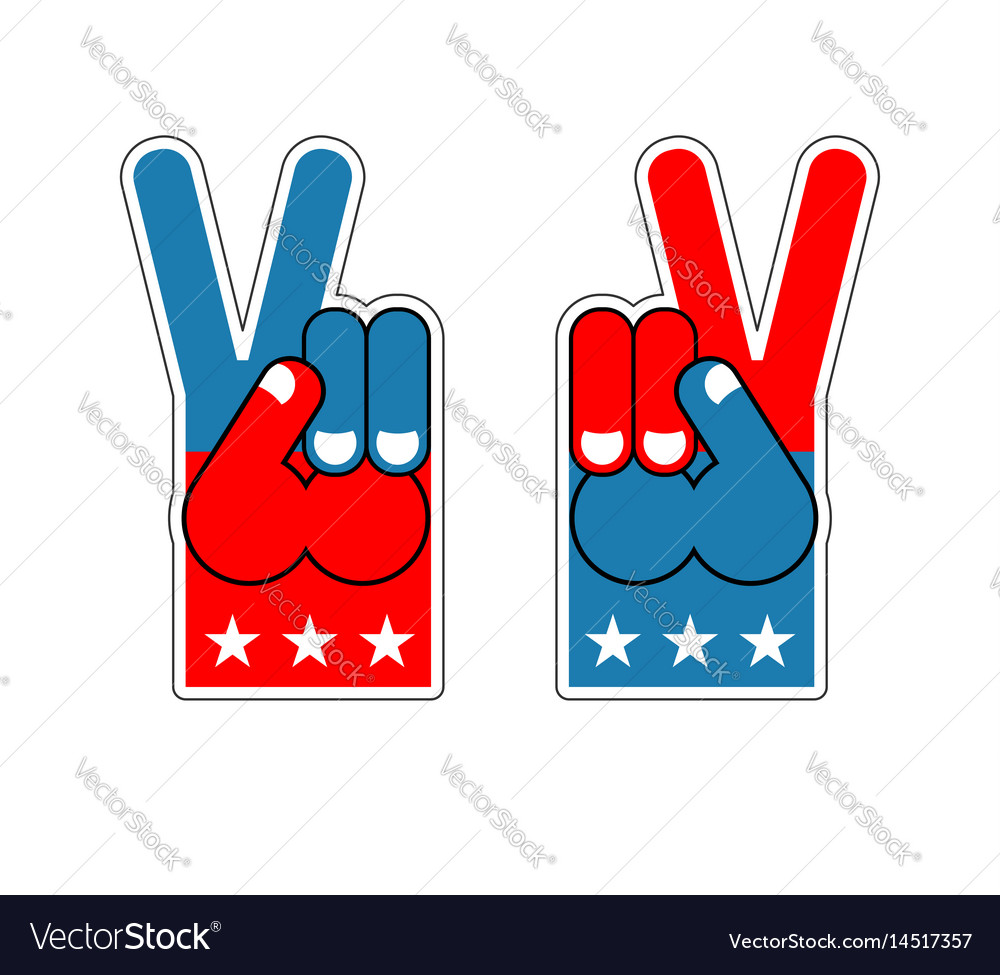 Foam finger victory symbol of usa patriot