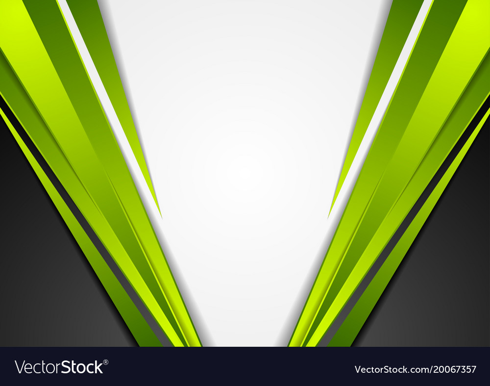 Grey Green And Black Tech Corporate Background Vector Image