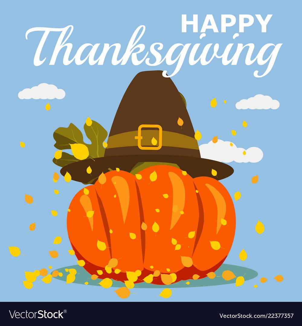 Happy thanksgiving celebration with cartoon