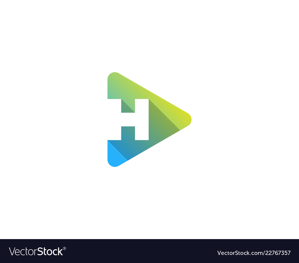 Media letter h logo icon design