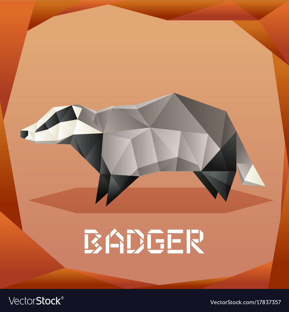 Origami grey badger