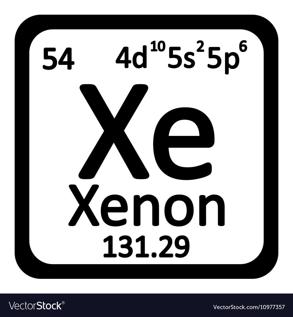 Periodic table element xenon icon royalty free vector image periodic table element xenon icon vector image urtaz Image collections
