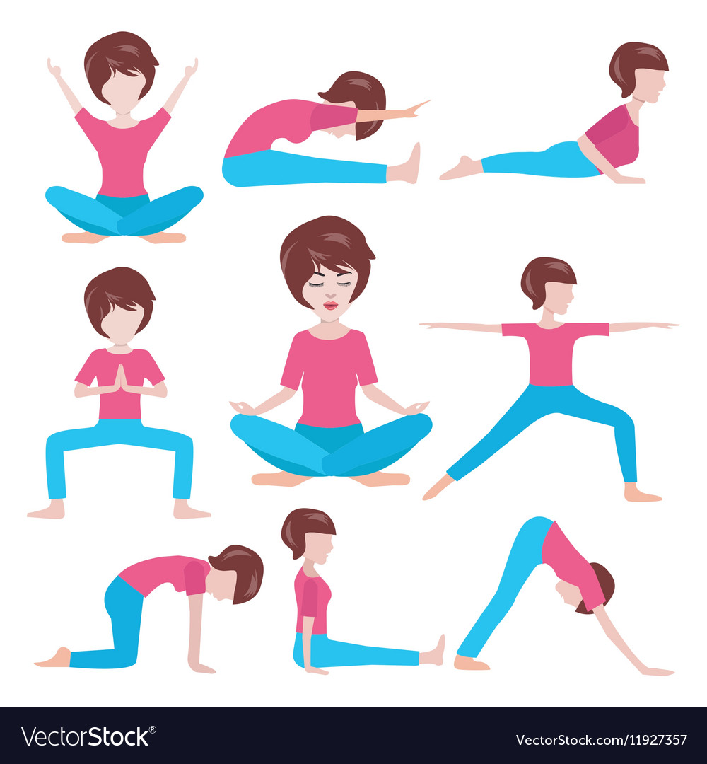 Yoga life women yoga poses set