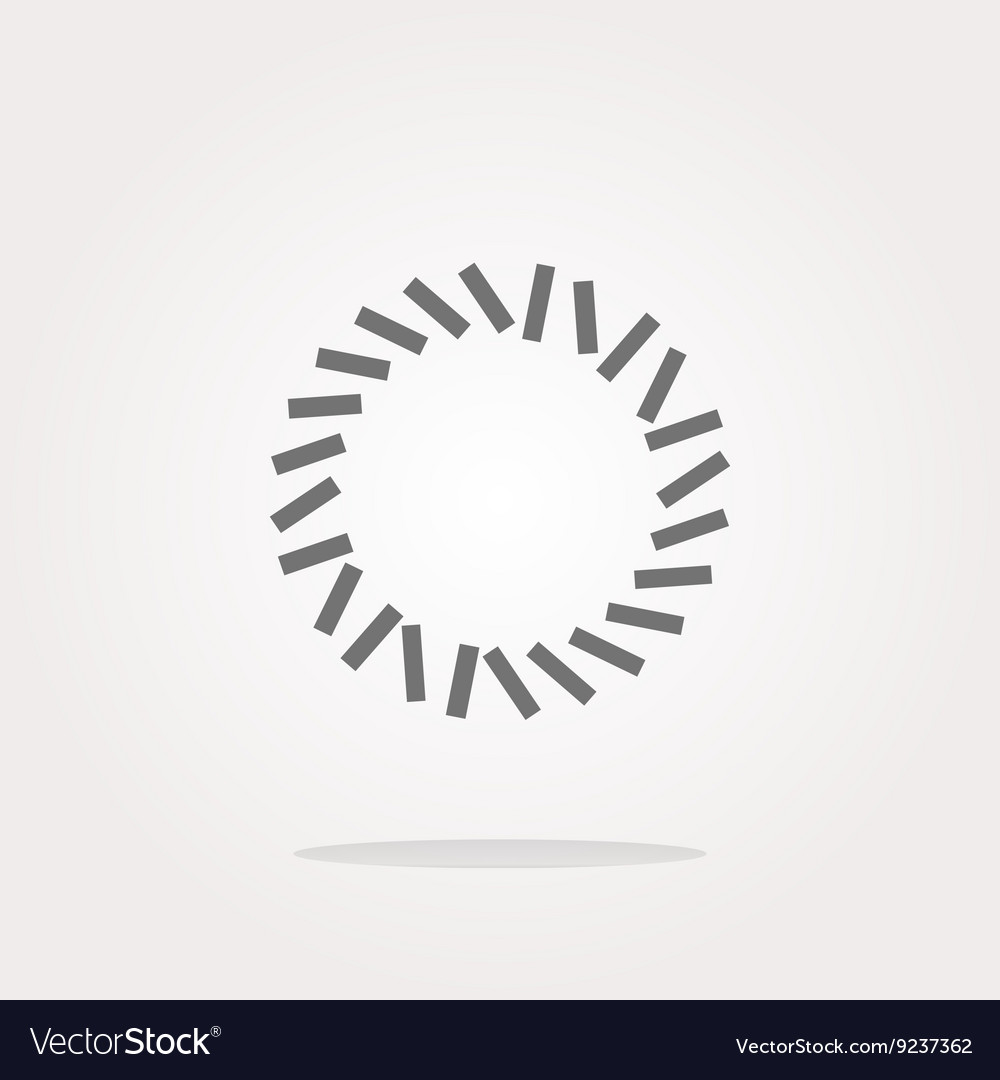 Abstract symbol on web icon or button Web