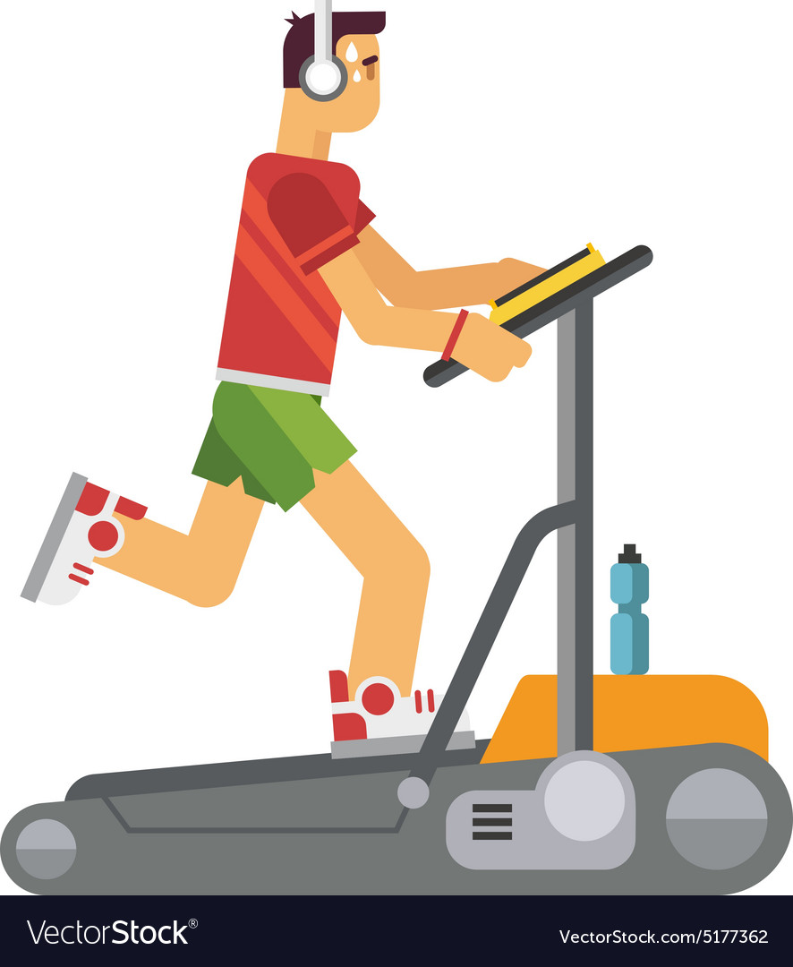 Athlete Running on a Treadmill vector image