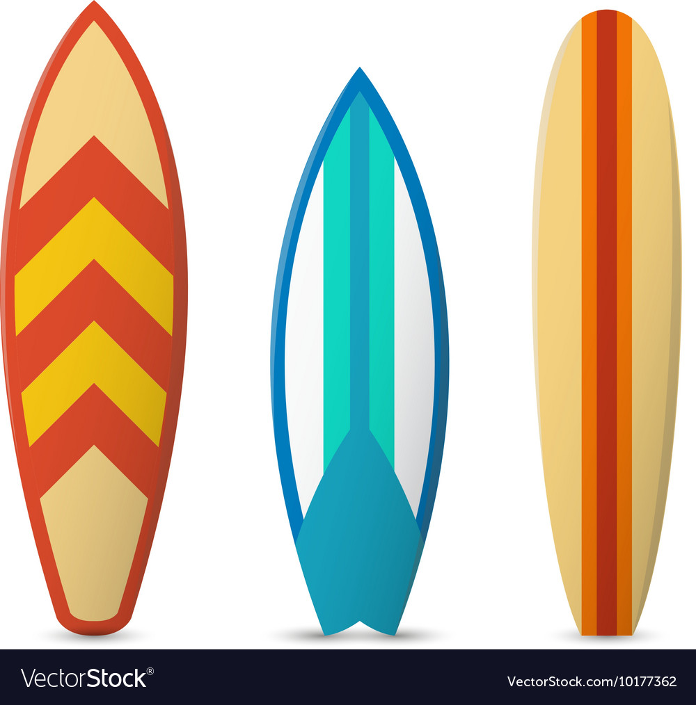 Color surfboard set vector image