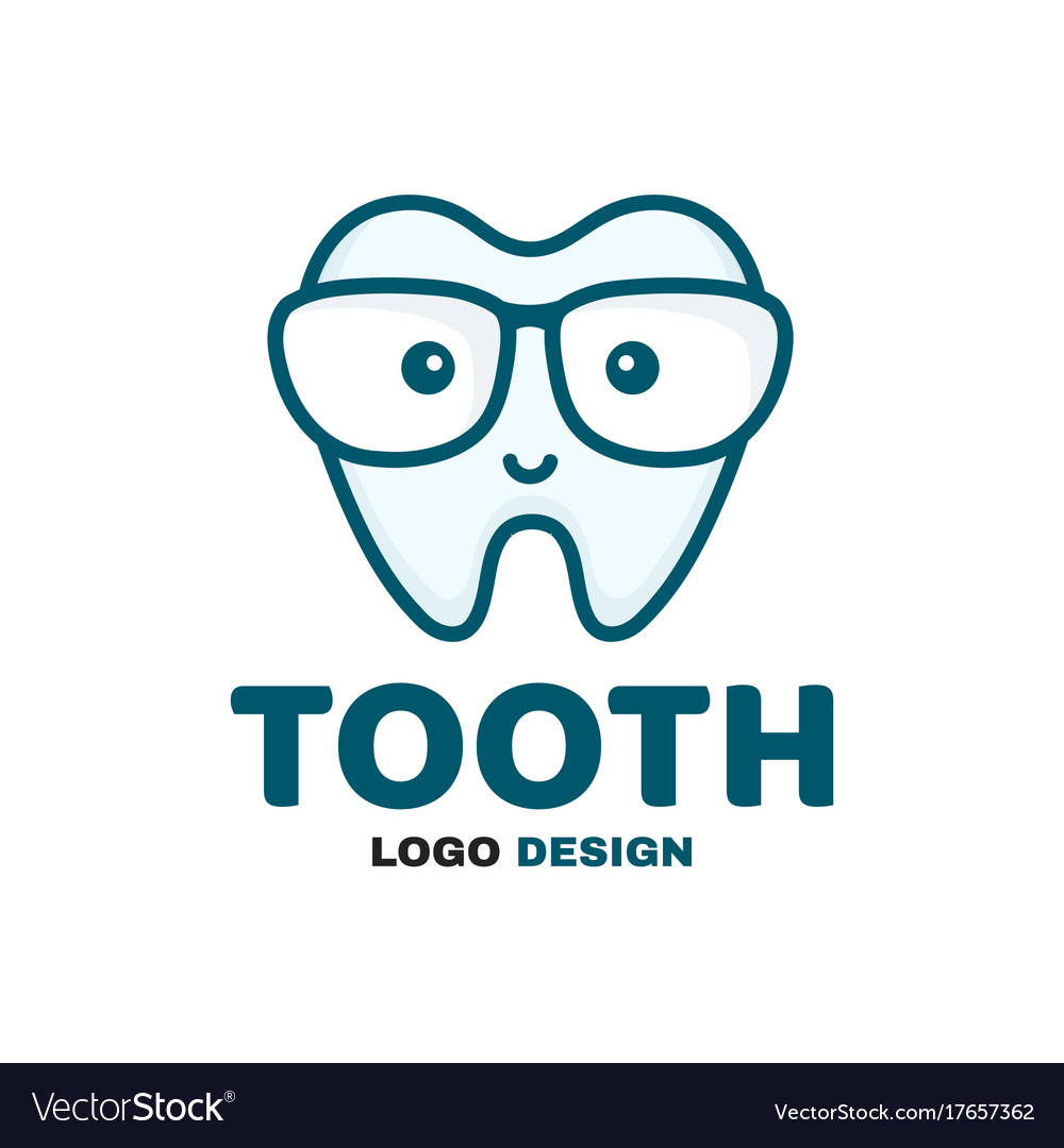 4d821faf8049 Fun cute happy smart smiling tooth Royalty Free Vector Image