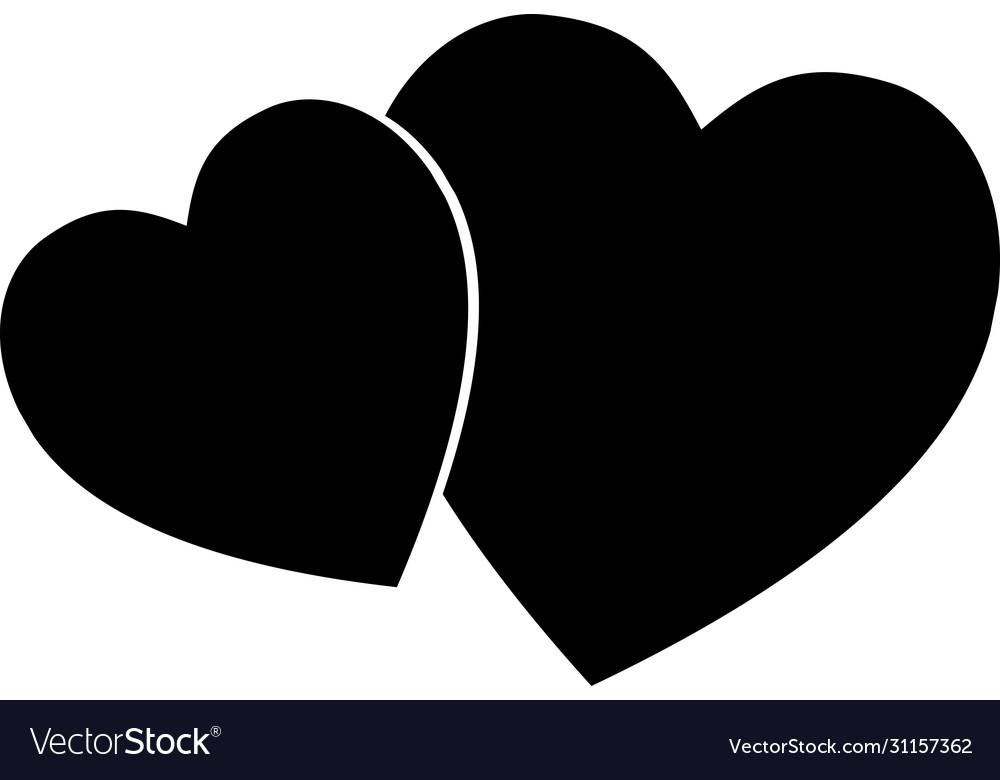 Heart icon simple love logo