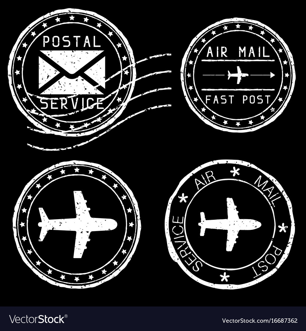mail stamps for envelopes white royalty free vector image