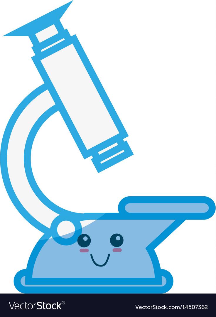 microscope cute cartoon royalty free vector image vectorstock