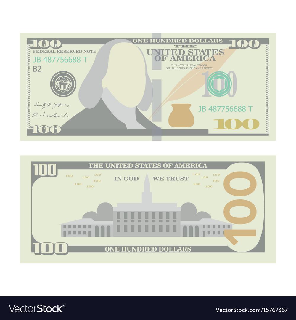 100 dollars banknote cartoon us urrency