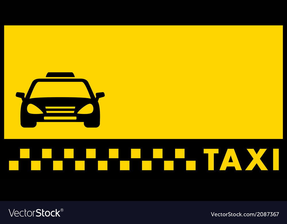 Backdrop for taxi visiting card Royalty Free Vector Image