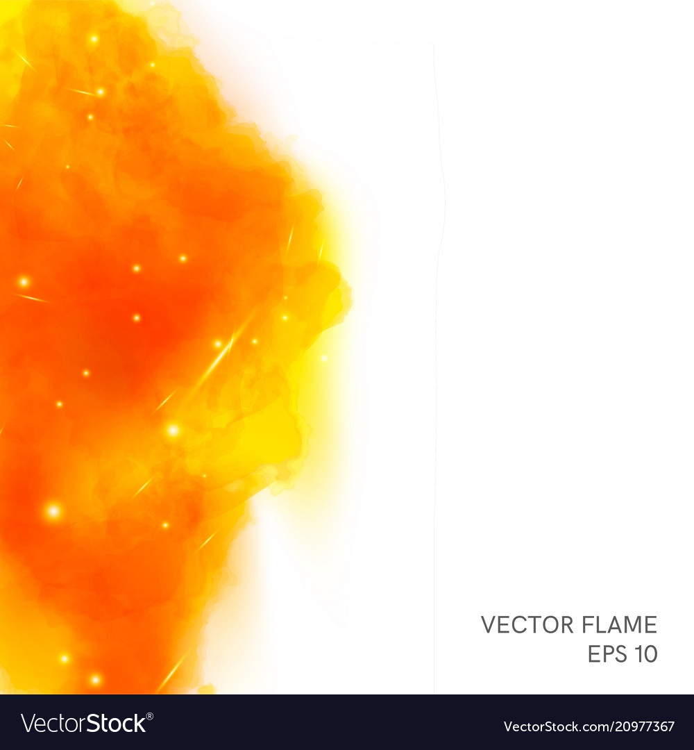 Fire vortex and space for text