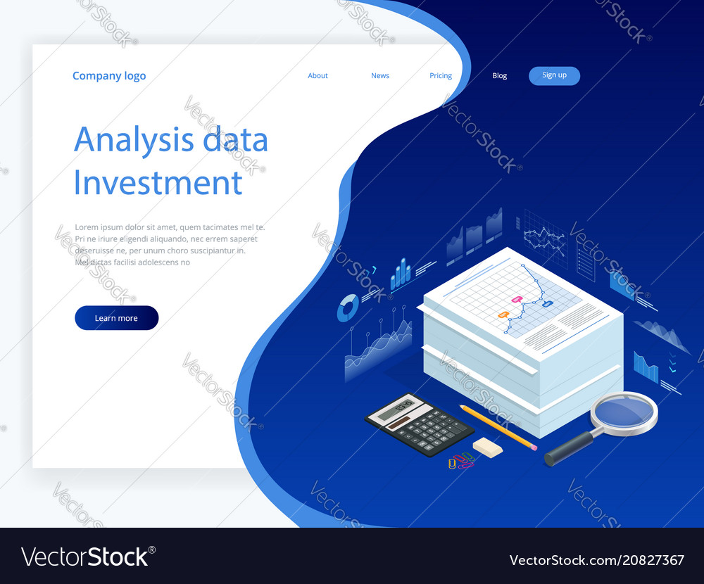 Isometric analysis data and investment stack of
