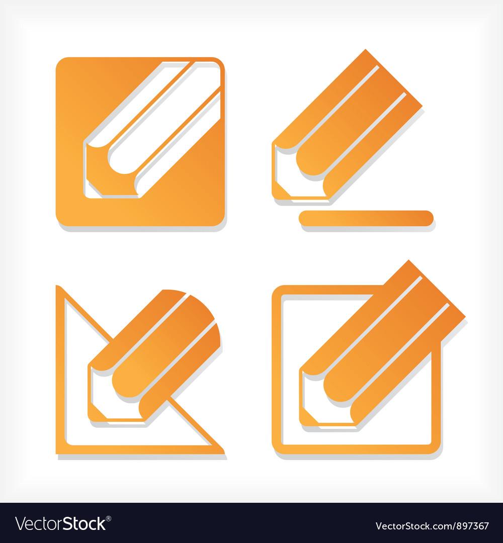 Pencil icons set