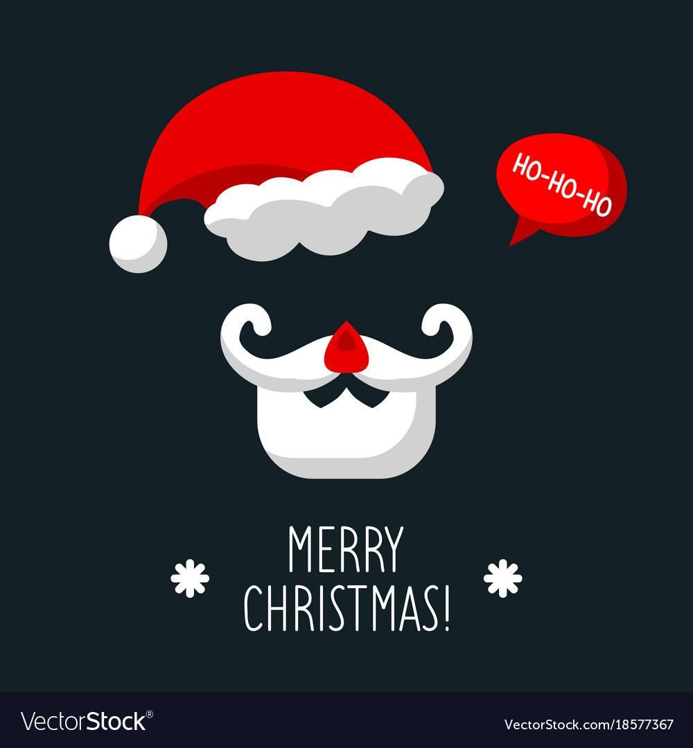 Poster with santa claus and text merry