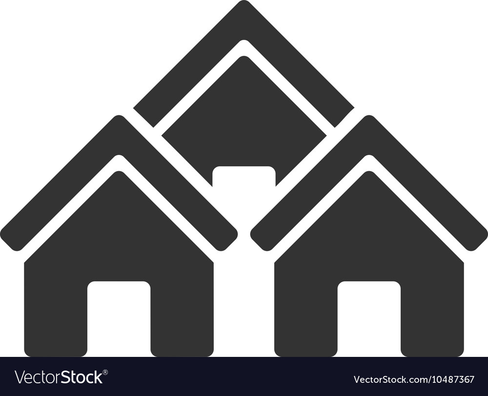 Town Buildings Flat Icon