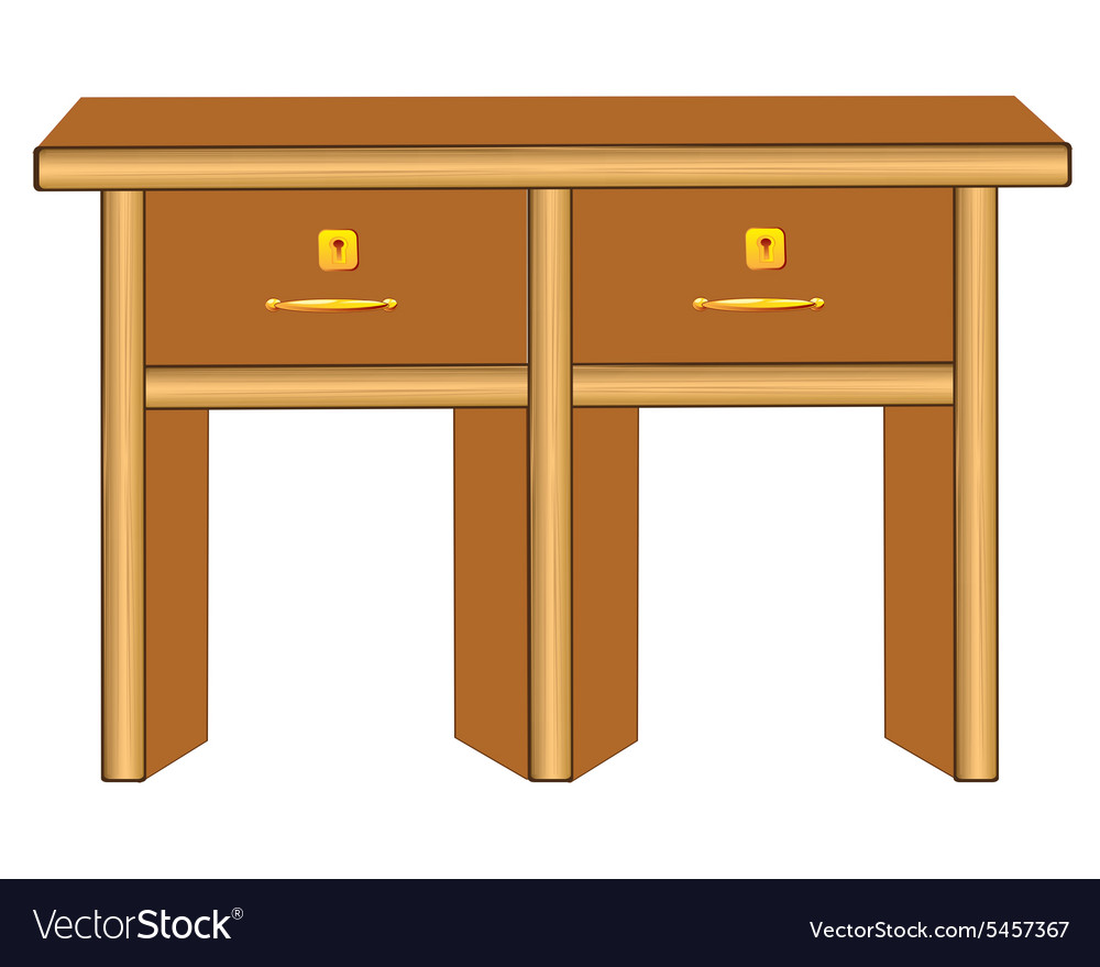 a95cd40ad075 Wooden table Royalty Free Vector Image - VectorStock