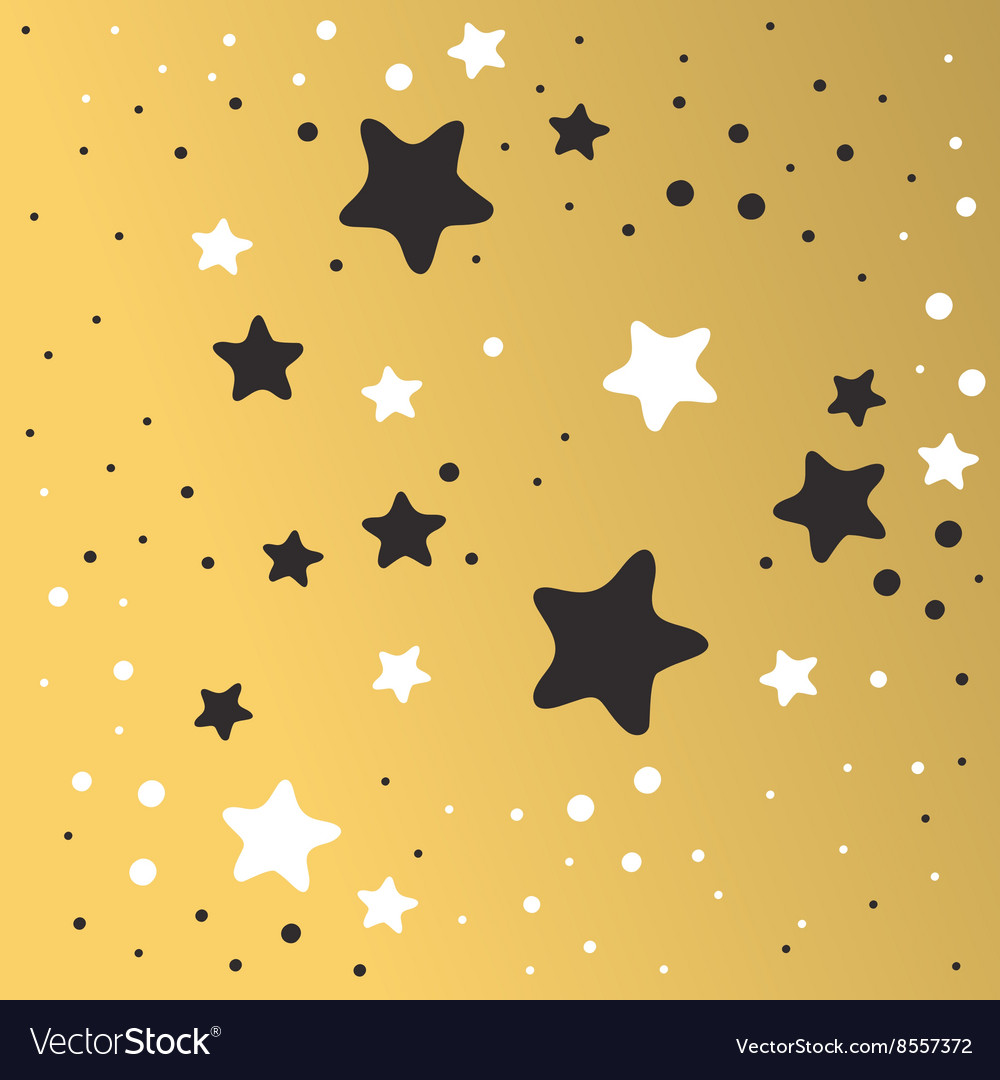 abstract xmas golden star background design vector image