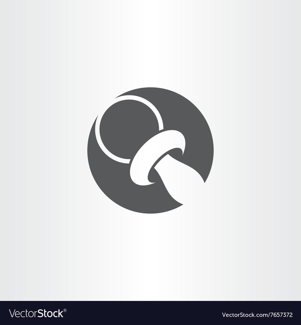 Baby nipple black circle icon