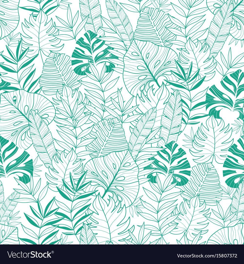 Green tropical leaves summer hawaiian