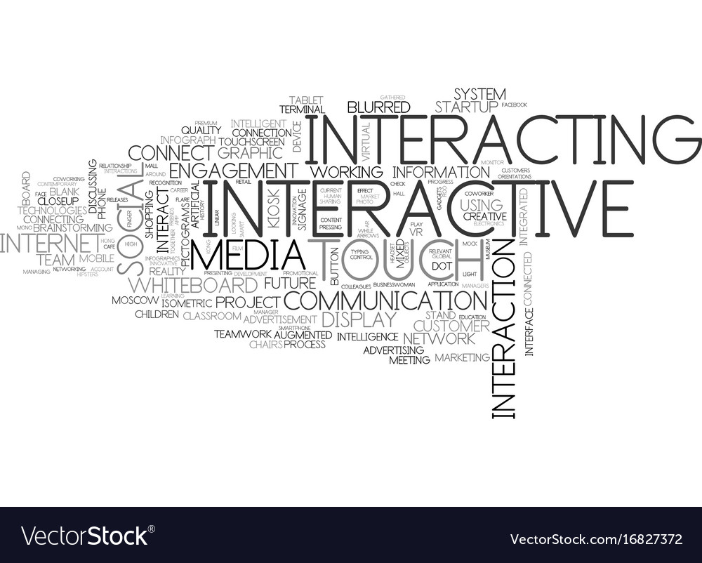 Interacting word cloud concept