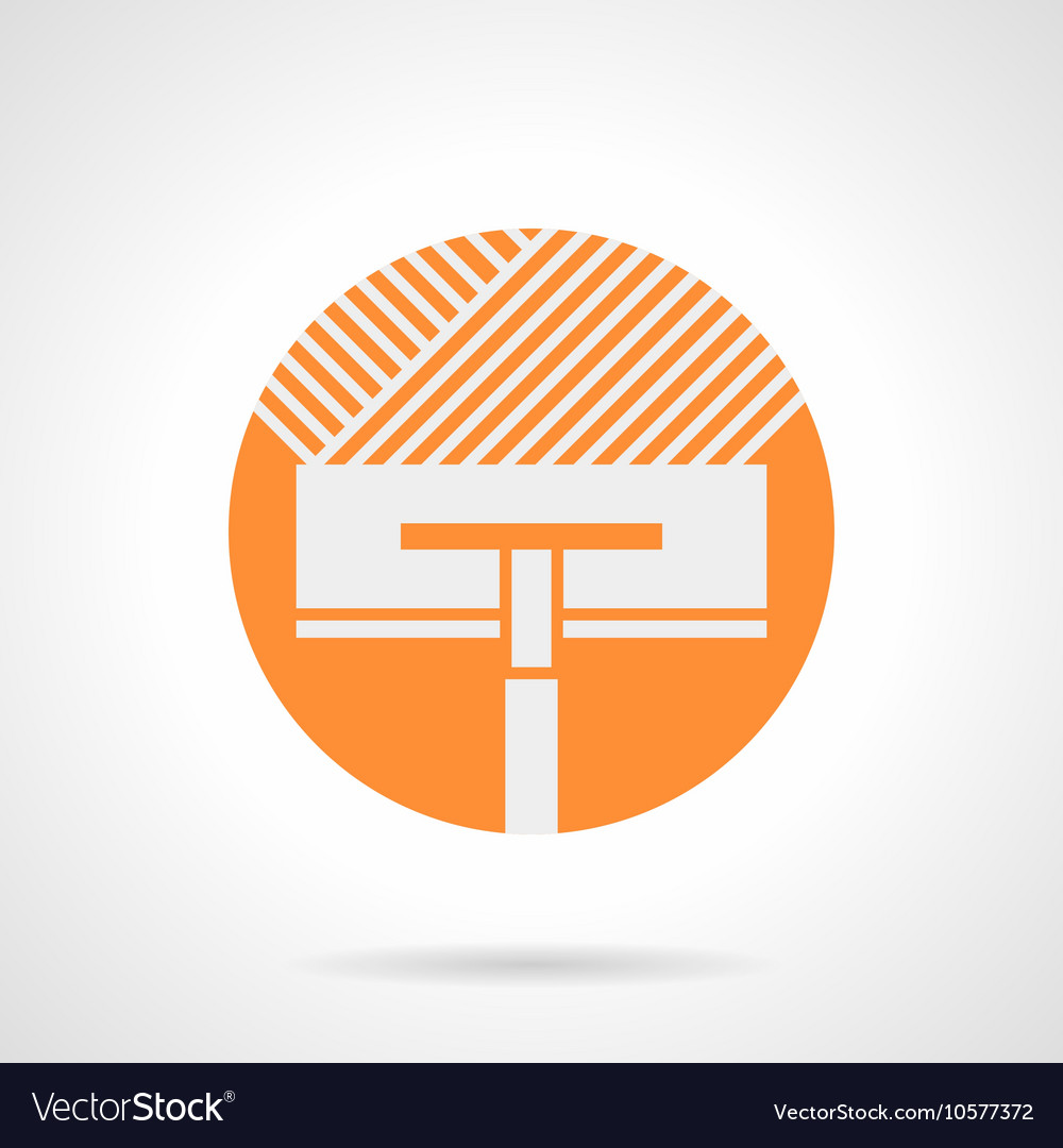 Orange round icon for floor insulation