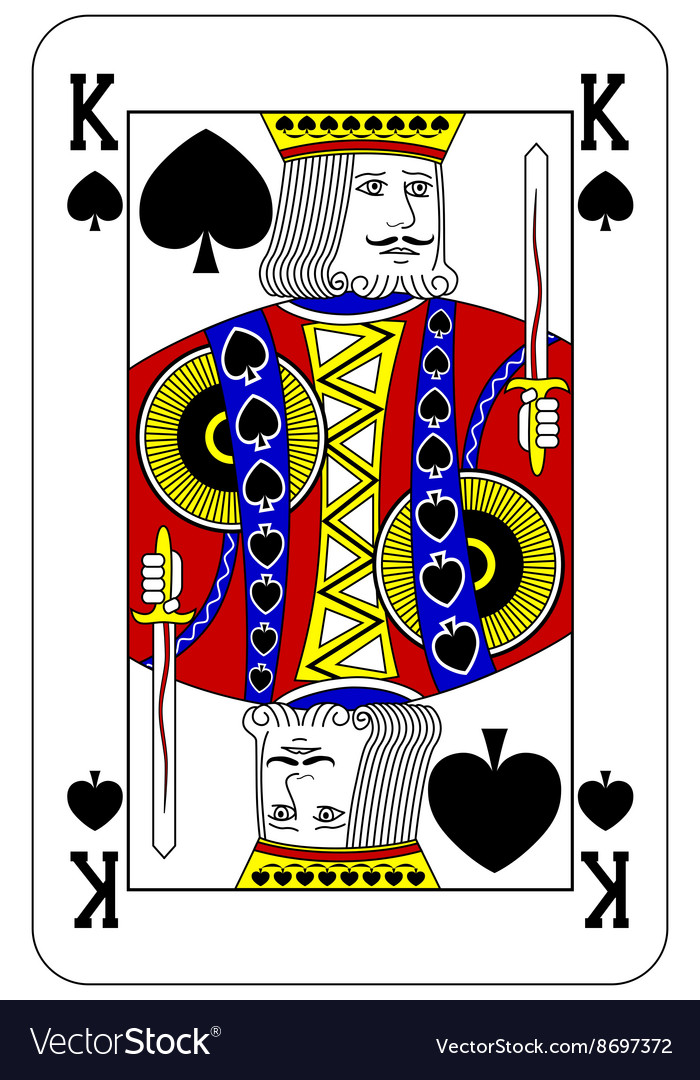 king of spade card  Poker playing card King spade