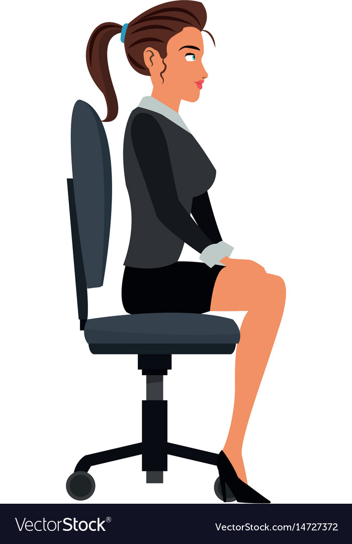 Pretty woman sitting chair office work