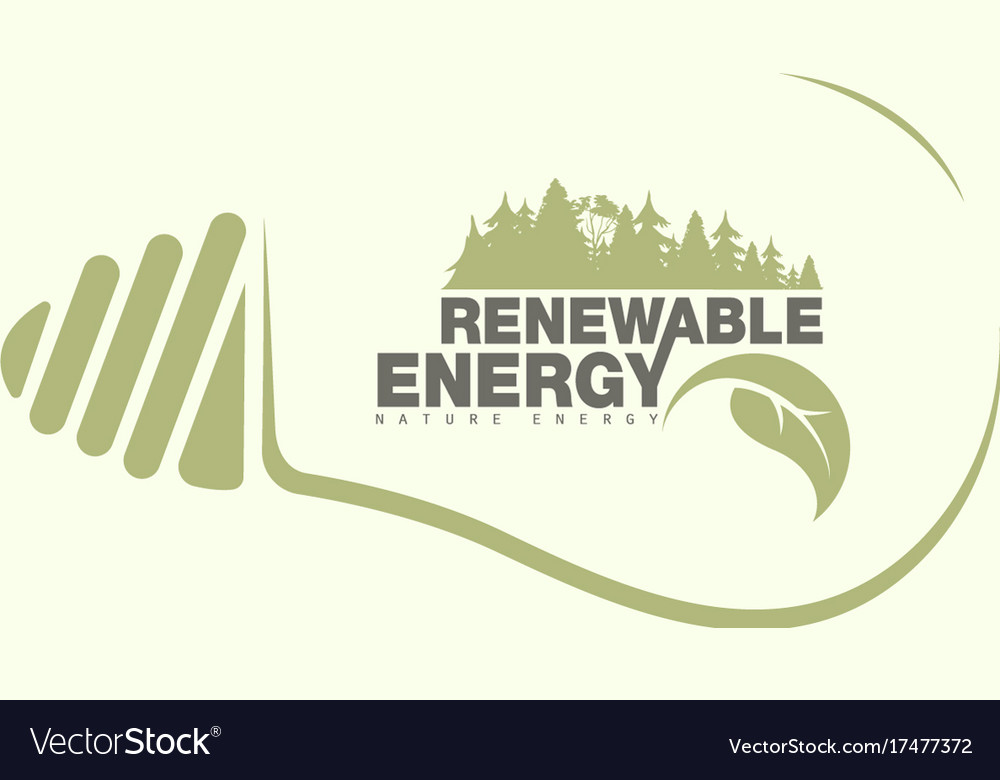 Renewable energy of earth in bulb the concept