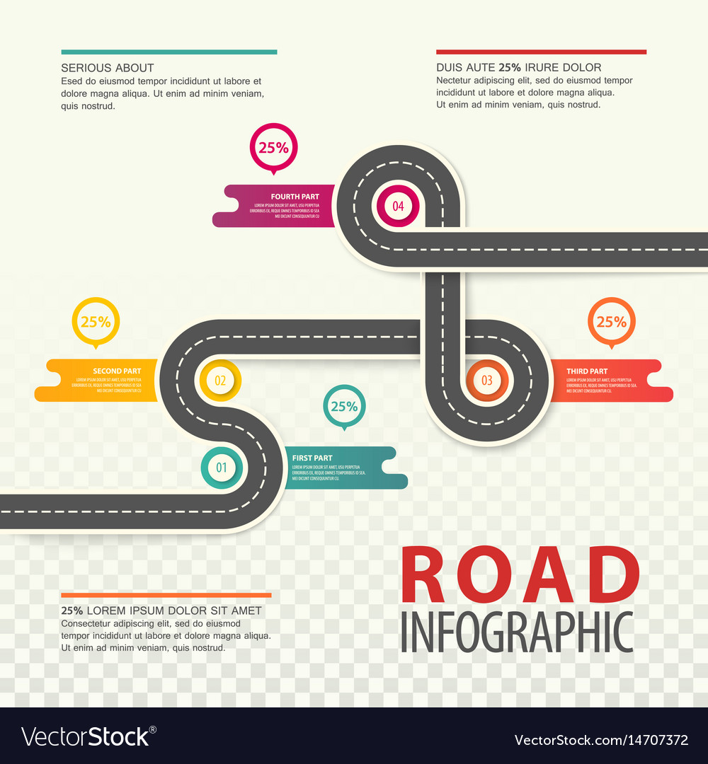 Road or highway infographics car traffic map