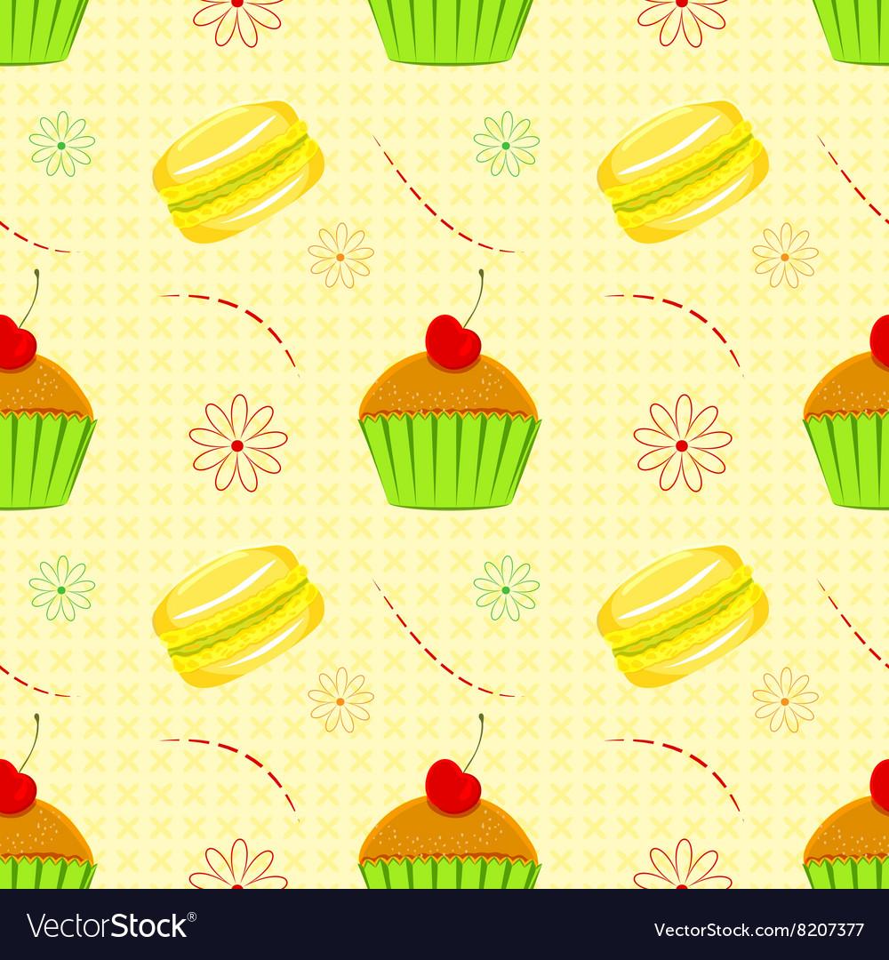 Dessert food pattern seamless patterns