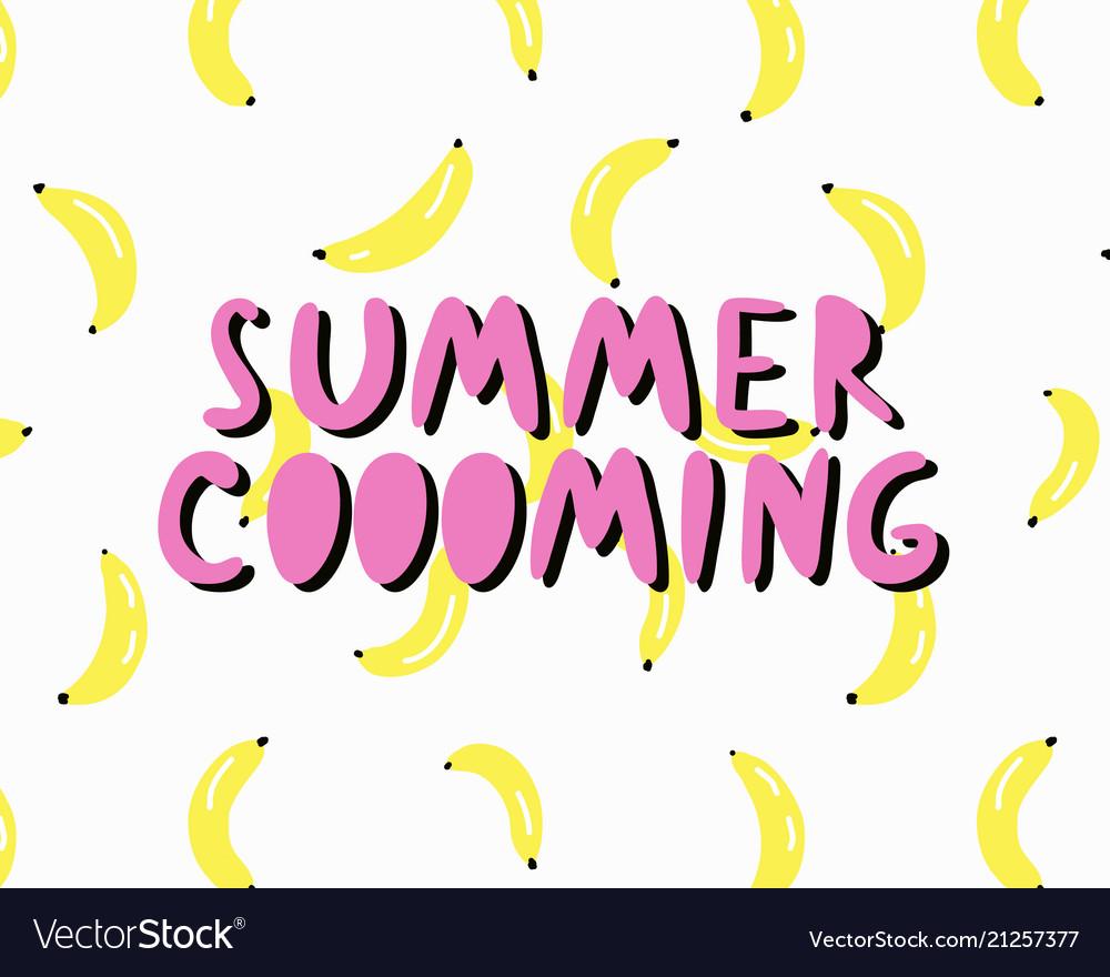 Summer time lettering