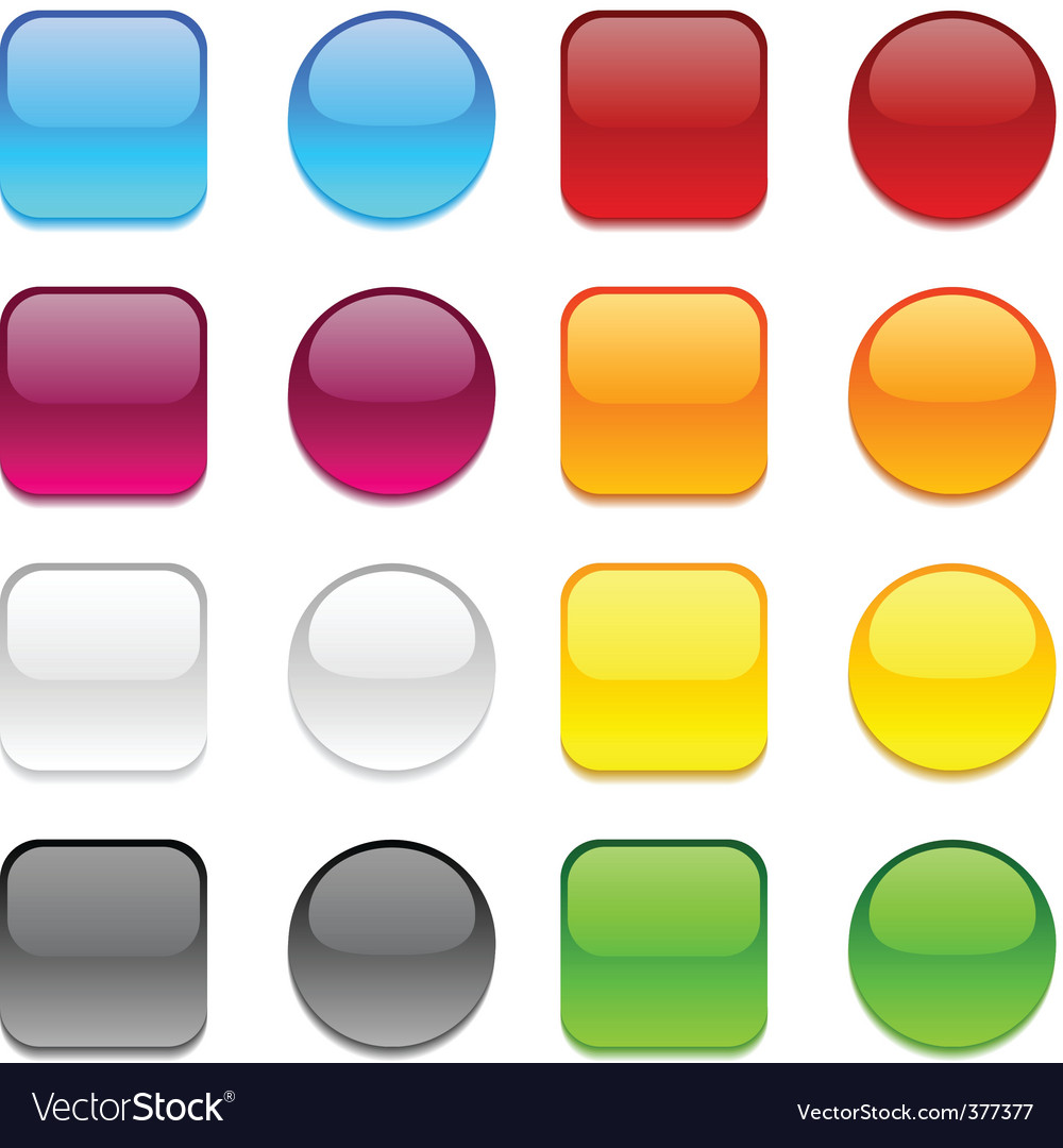 color buttons on white vector