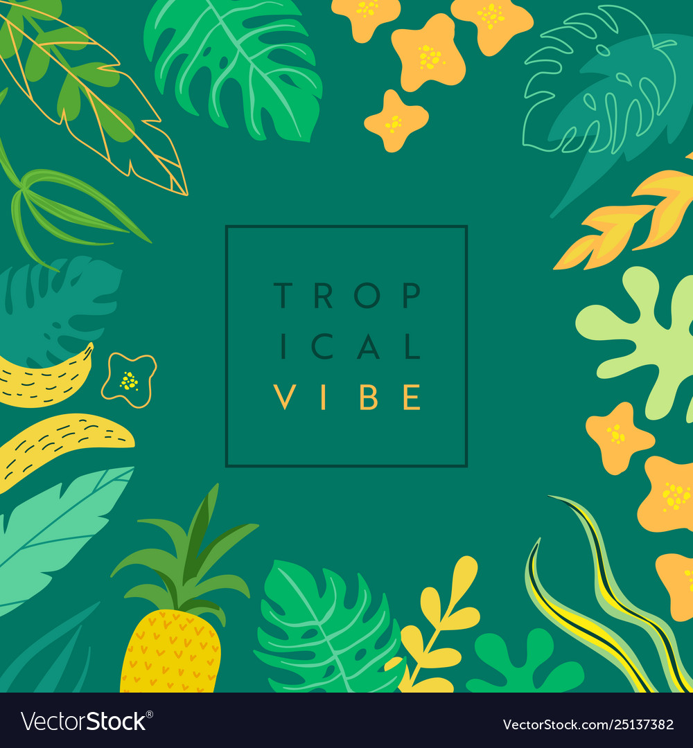 Abstract tropical banner summer background
