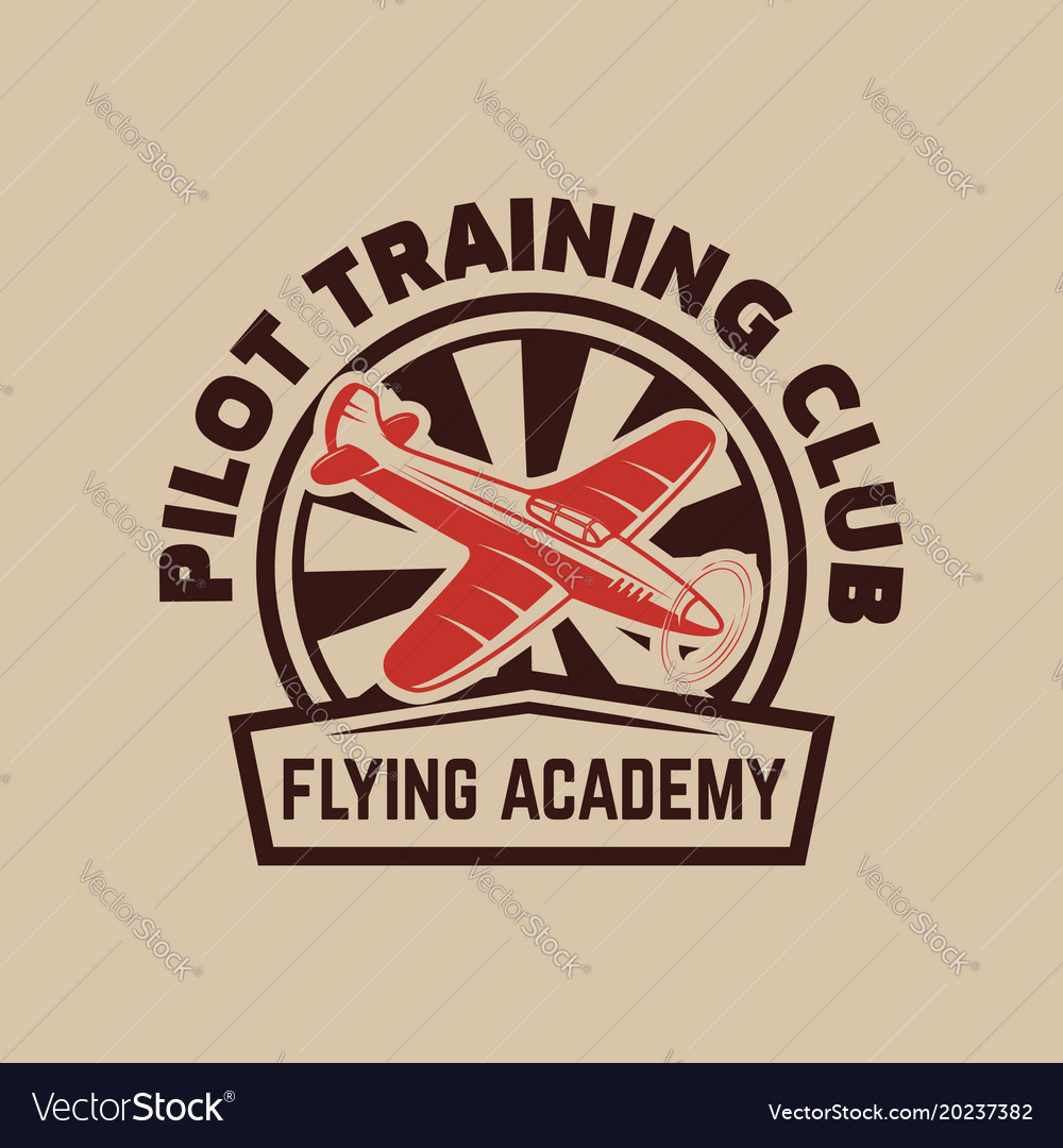 Aviation training center emblem template with