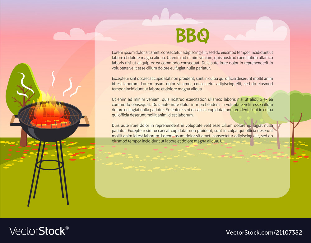 Bbq poster with nature text