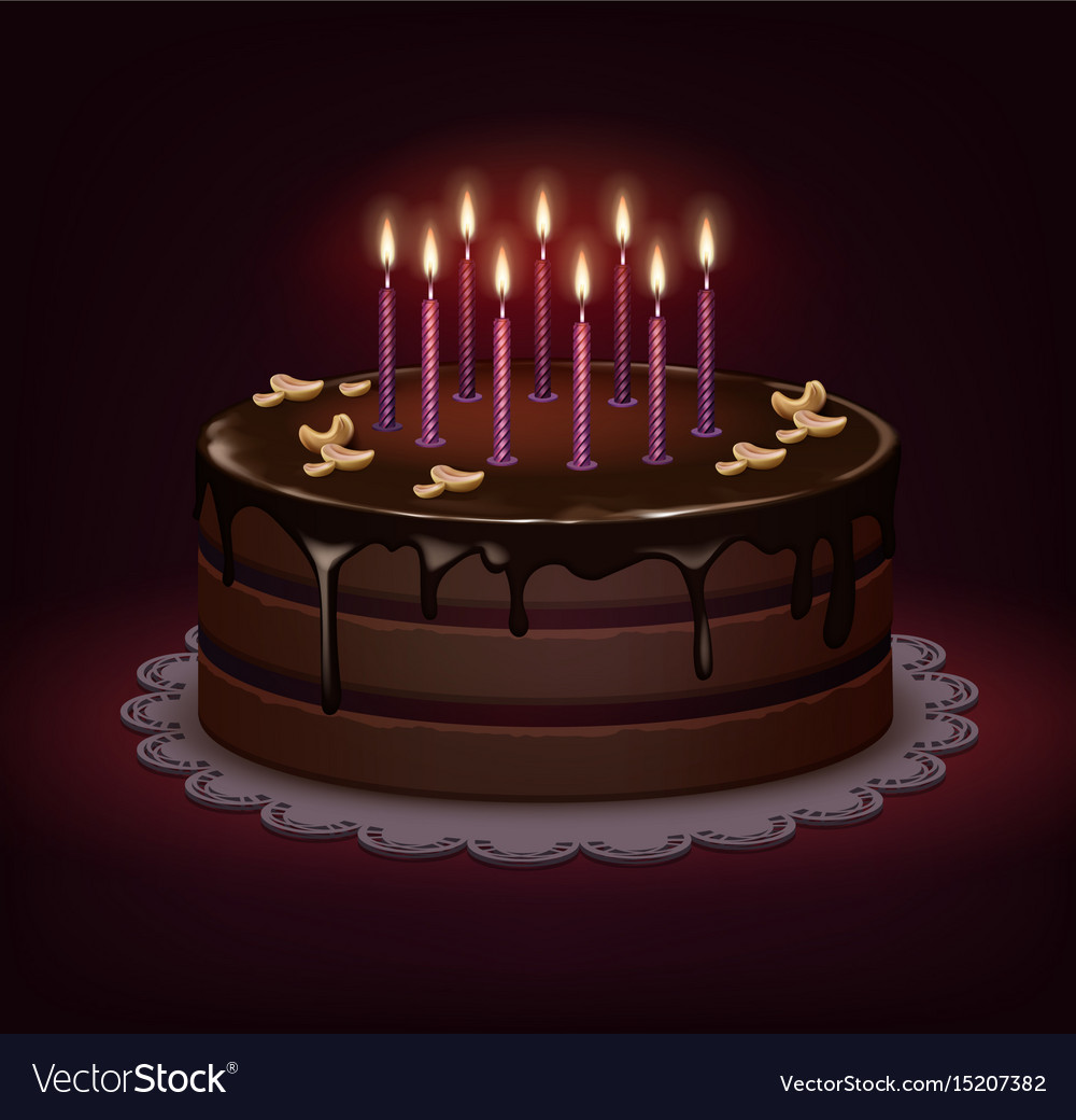 Cool Birthday Chocolate Cake Royalty Free Vector Image Funny Birthday Cards Online Eattedamsfinfo