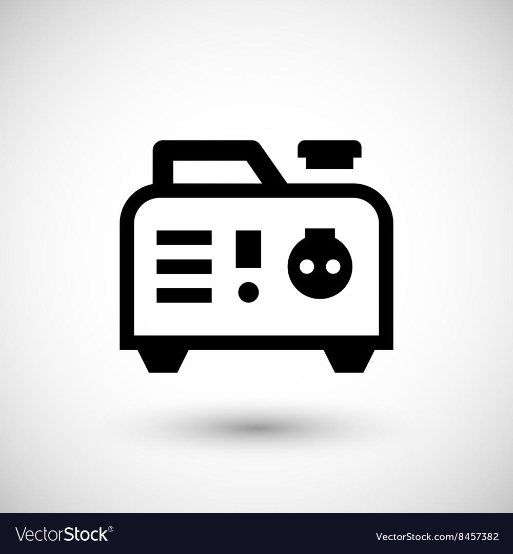 Portable electric generator icon