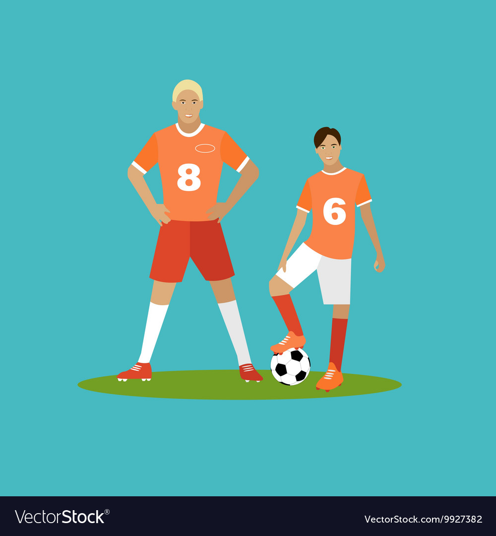 Soccer player with equipment sport concept